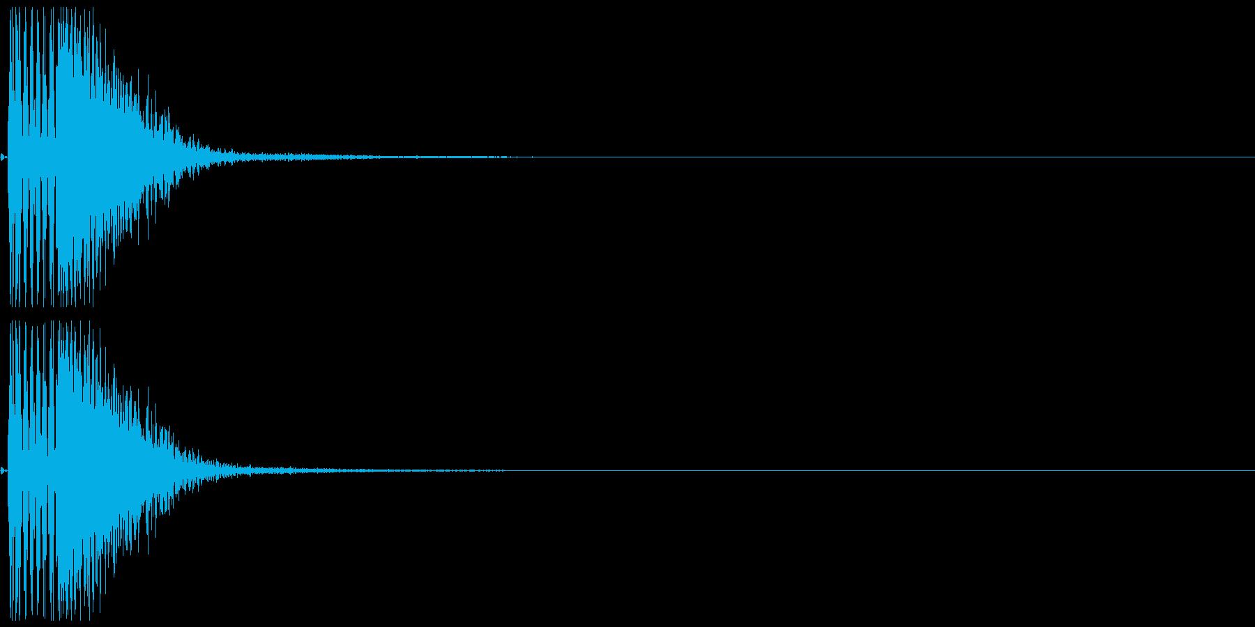 パンチ02(ボムッ)の再生済みの波形