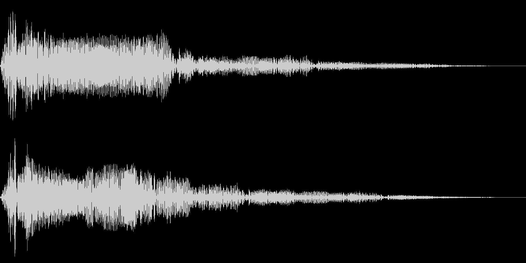 ホラー系アタック音83の未再生の波形