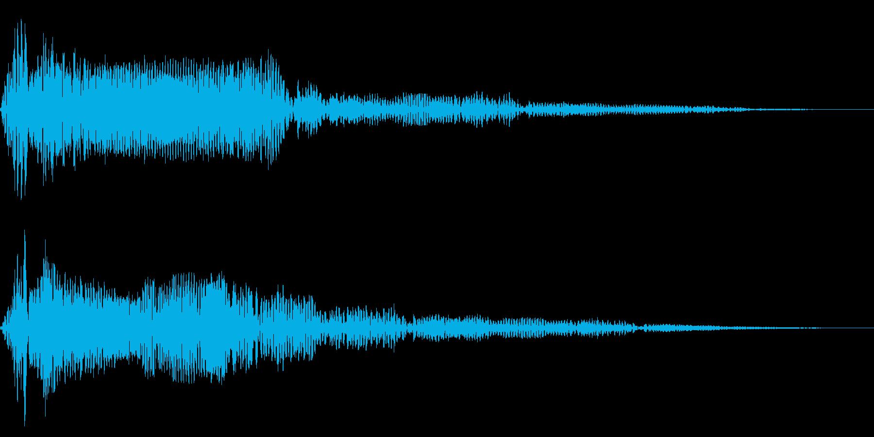 ホラー系アタック音83の再生済みの波形