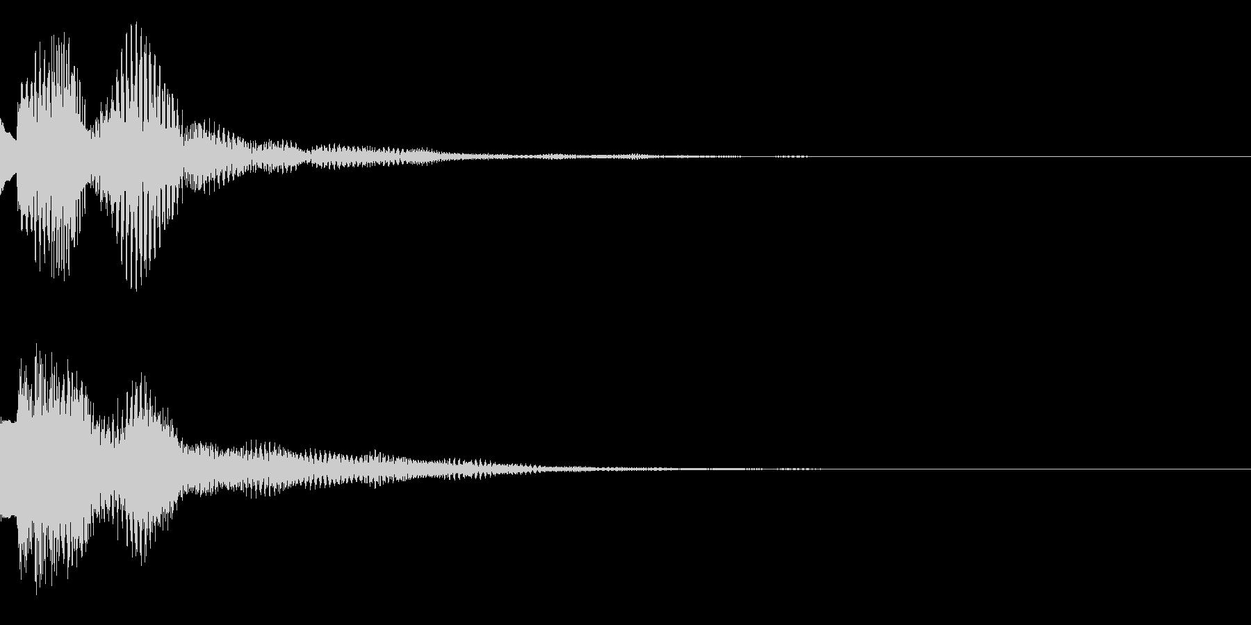 注目、テロップの未再生の波形
