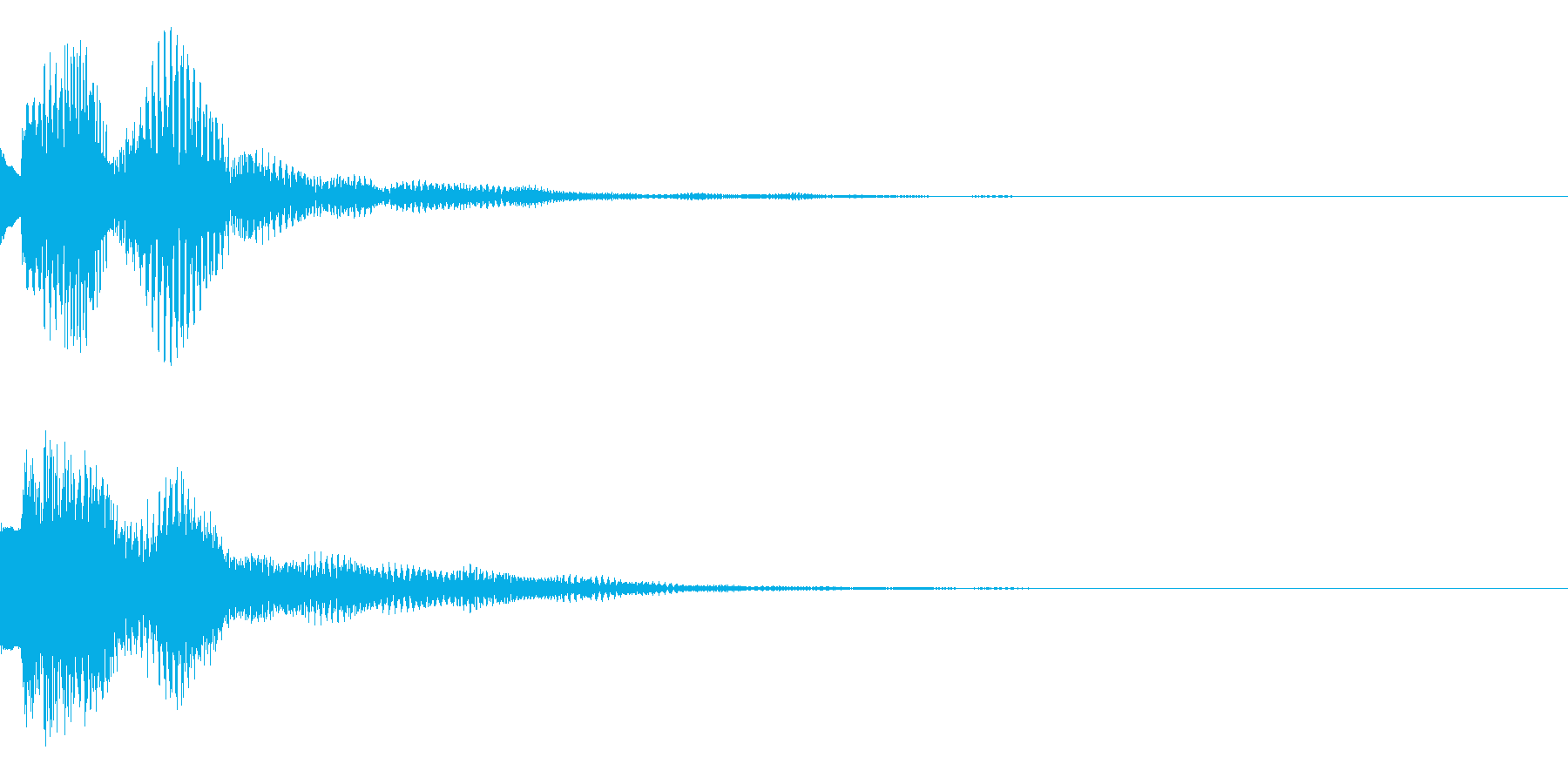注目、テロップの再生済みの波形