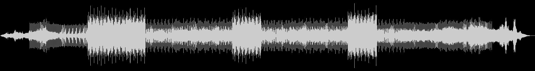 電磁波のようなクラブミュージックの未再生の波形