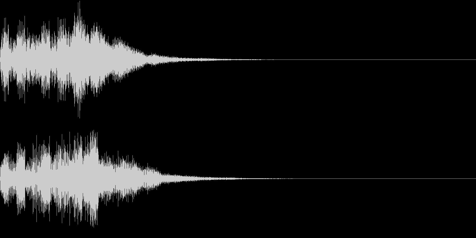 クリック キラリン 正解 決定 19の未再生の波形