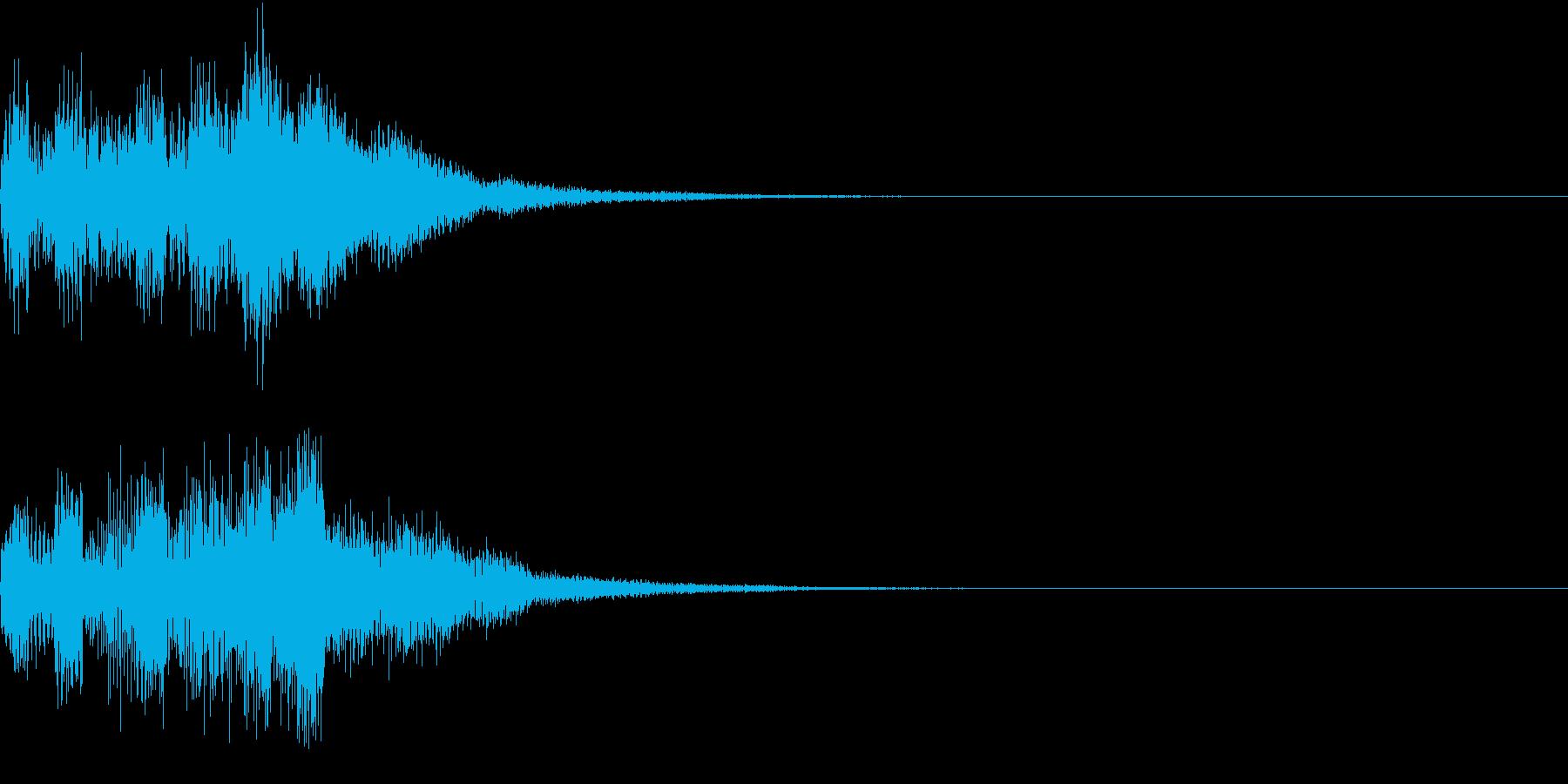 クリック キラリン 正解 決定 19の再生済みの波形