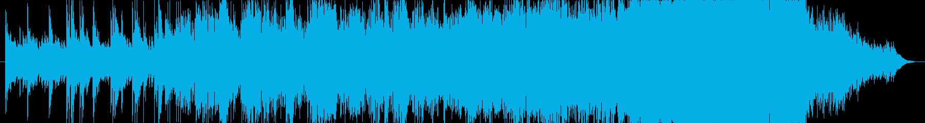 やわらかい印象のBGMの再生済みの波形