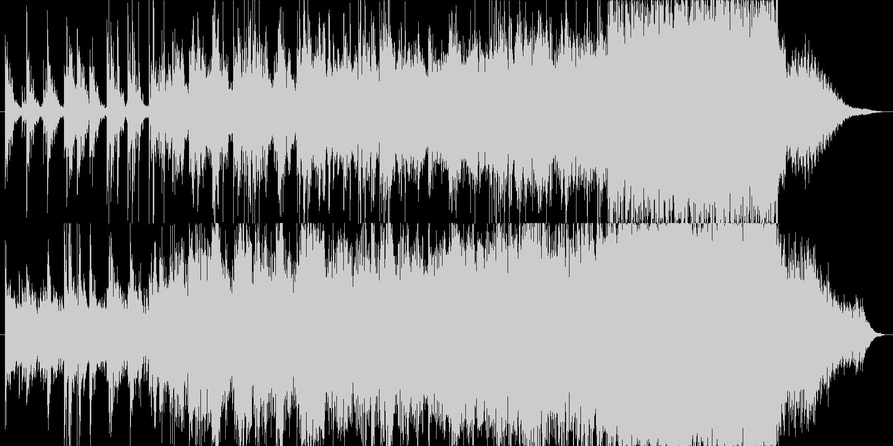 やわらかい印象のBGMの未再生の波形