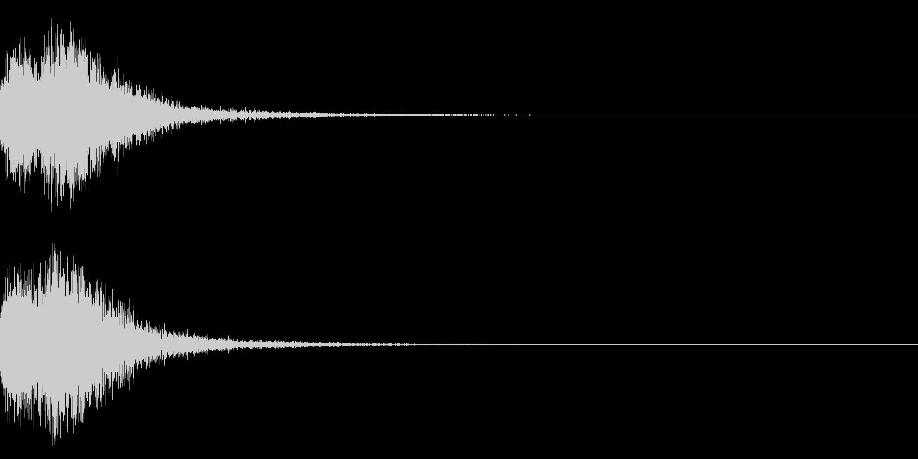 デデーン♪オーケストラヒット!効果音2cの未再生の波形