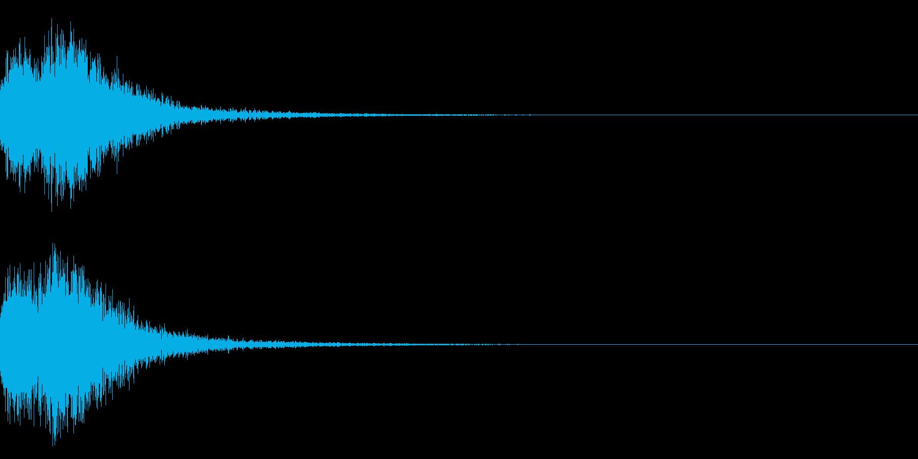 デデーン♪オーケストラヒット!効果音2cの再生済みの波形