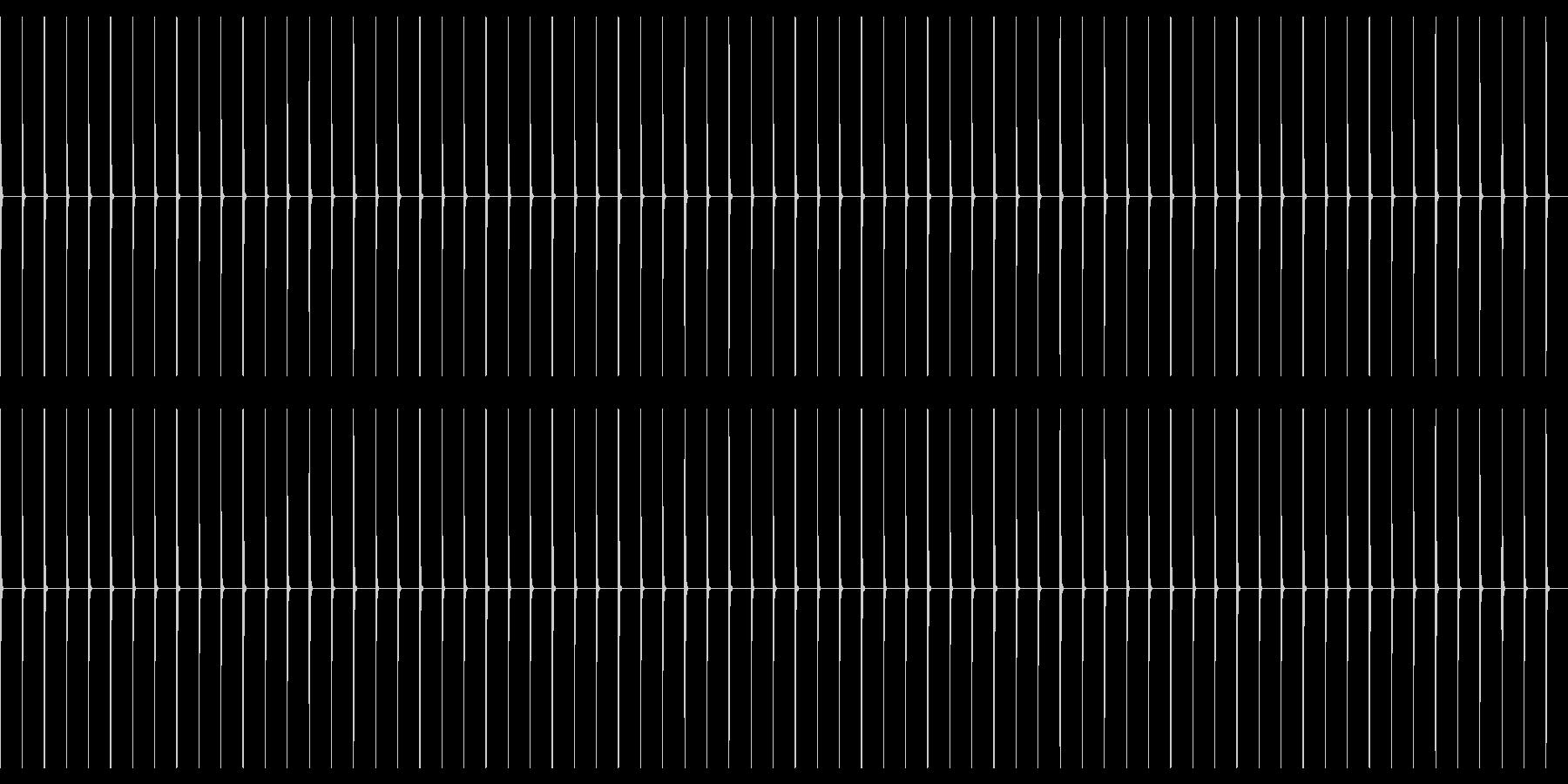 【生録音】ポク・ポク・ポク…ゆっくりめの未再生の波形