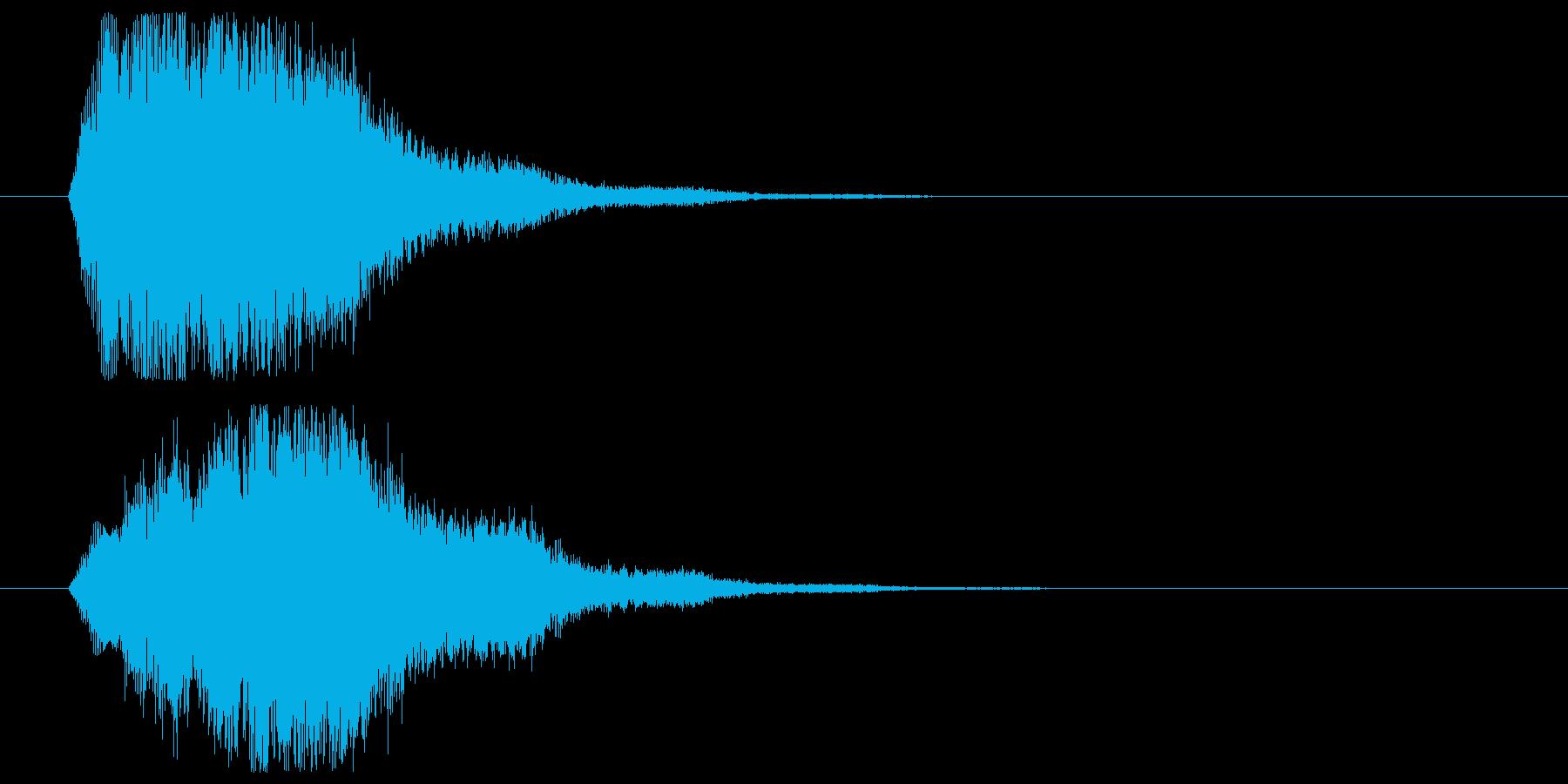 ワイプなど画面移動、場面展開時SEの再生済みの波形
