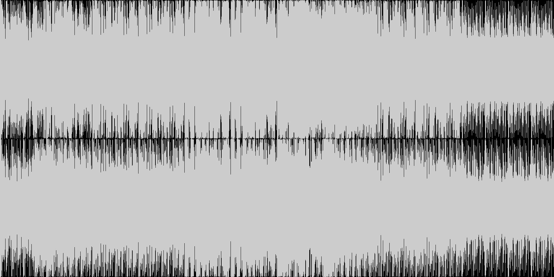 民族楽器を使用した疾走感のあるループ楽曲の未再生の波形