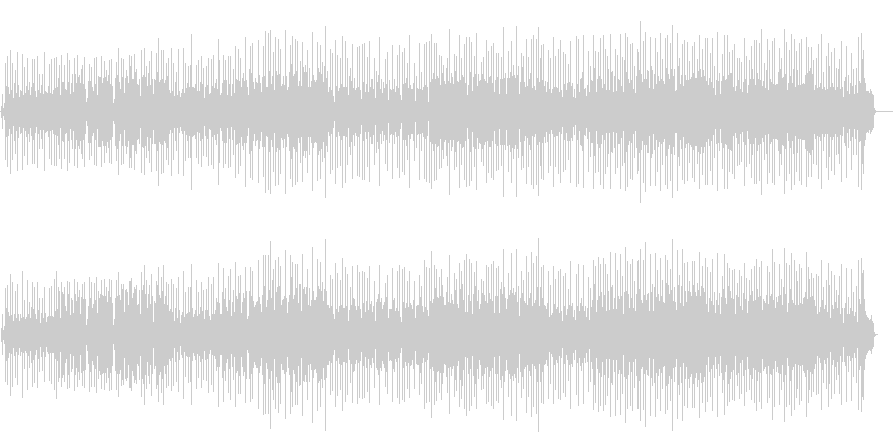 南国気分のスロー・レゲェ系ポップの未再生の波形