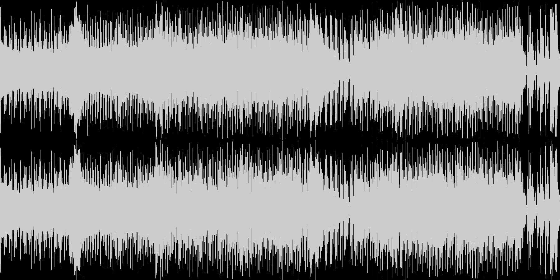 コミカルでシンプルな曲調のチップチューンの未再生の波形