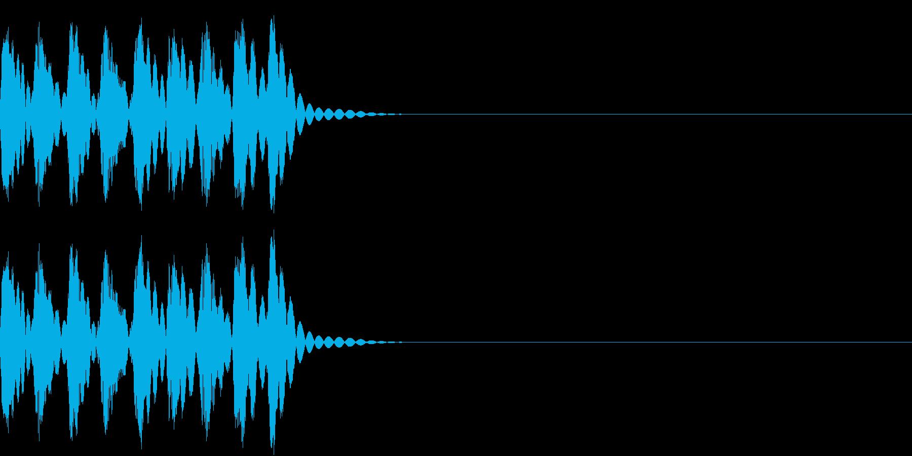 コンピューター、ロボ、ノイズの再生済みの波形