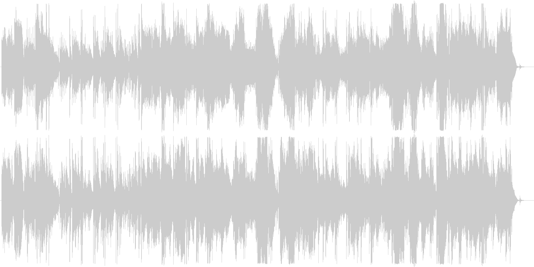 物語の導入部に最適なギターデュオの序奏の未再生の波形