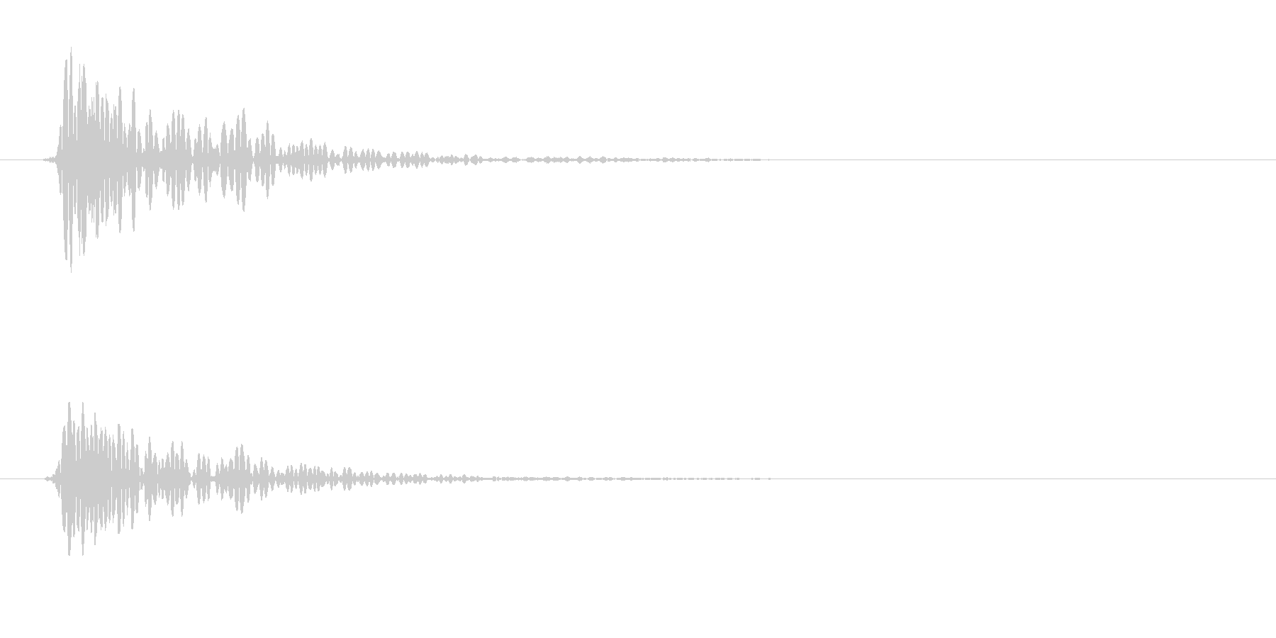 トン(叩く音色)軽めの未再生の波形