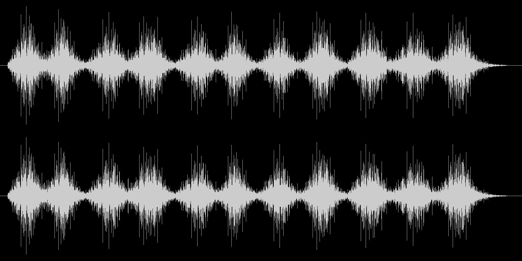 風が通る音、木琴の音(楽器、アジア)の未再生の波形