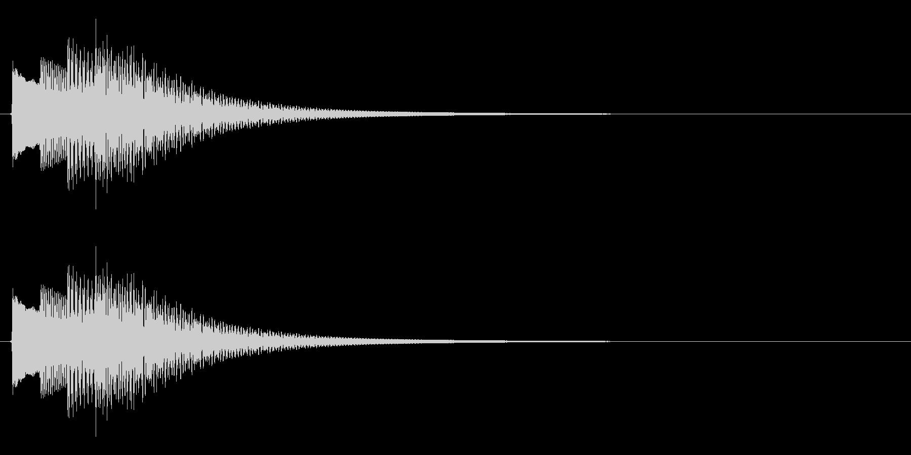 タラララン↑(キラキラ、場面転換、上昇)の未再生の波形