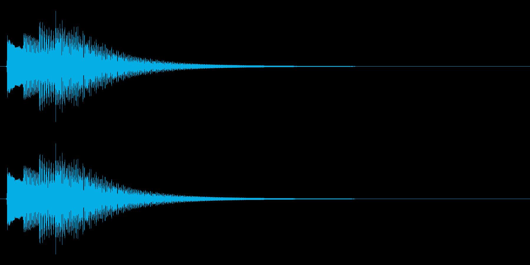 タラララン↑(キラキラ、場面転換、上昇)の再生済みの波形