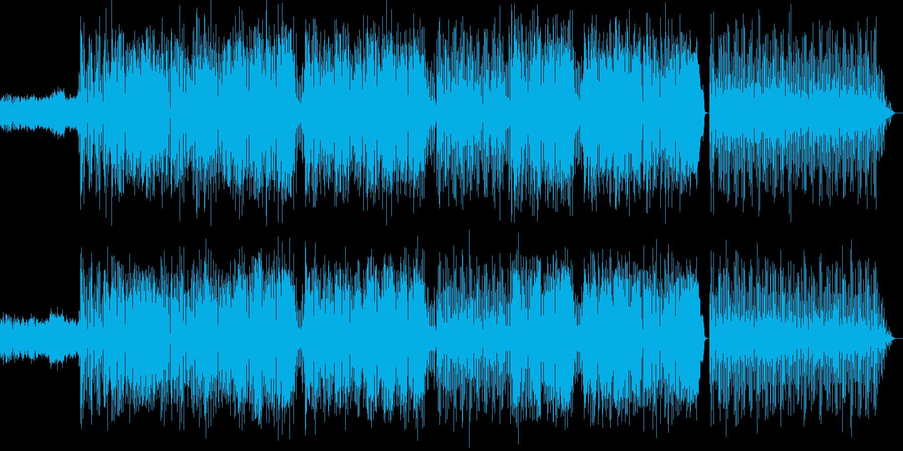 ほのぼのした雰囲気の女性ボーカルポップスの再生済みの波形