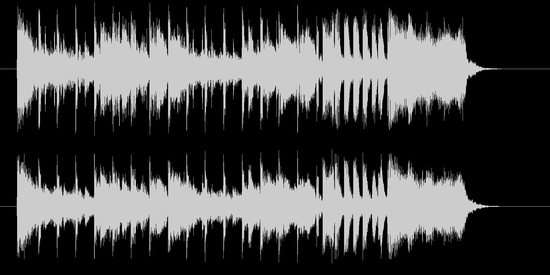 おしゃれで軽やかなシンセサウンド短めの未再生の波形