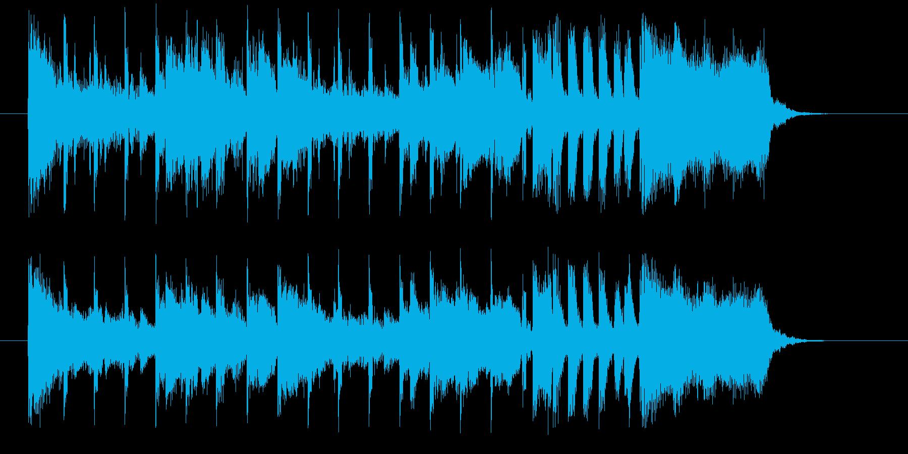 おしゃれで軽やかなシンセサウンド短めの再生済みの波形