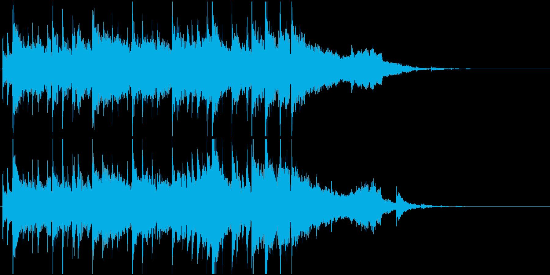 サックスのラジオジングル2の再生済みの波形