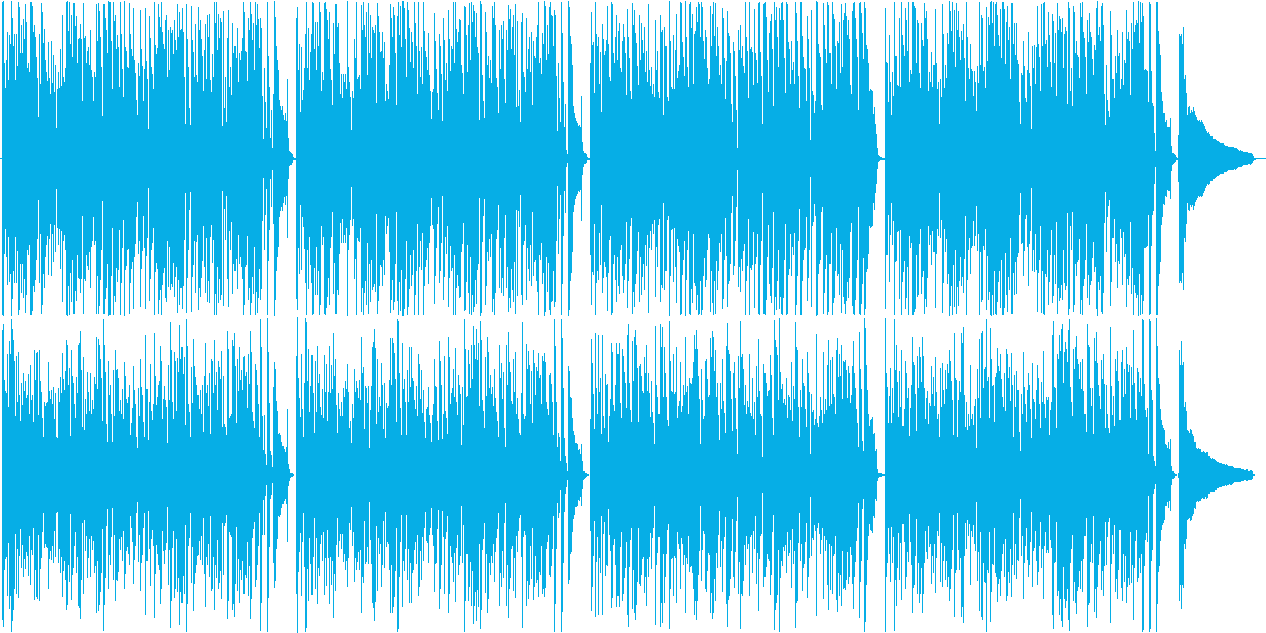 穏やかでおしゃれなボサノバBGM♪の再生済みの波形