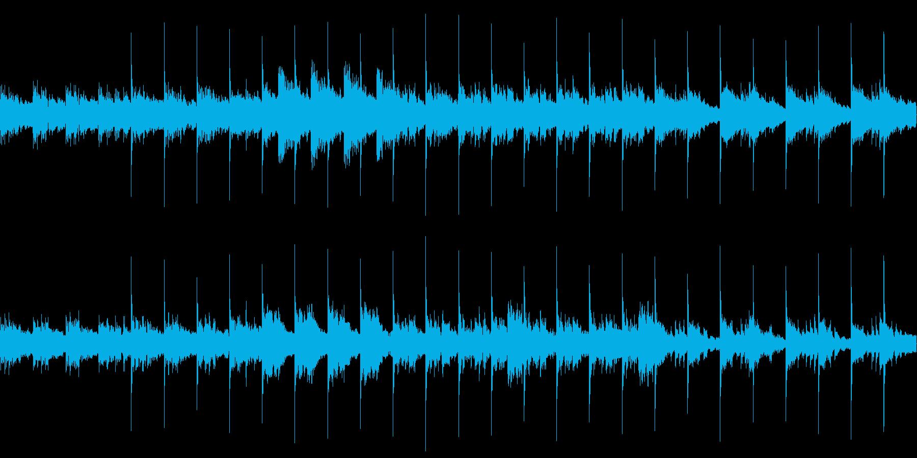 ゲームBGM想定曲(ホラー、暗め)の再生済みの波形
