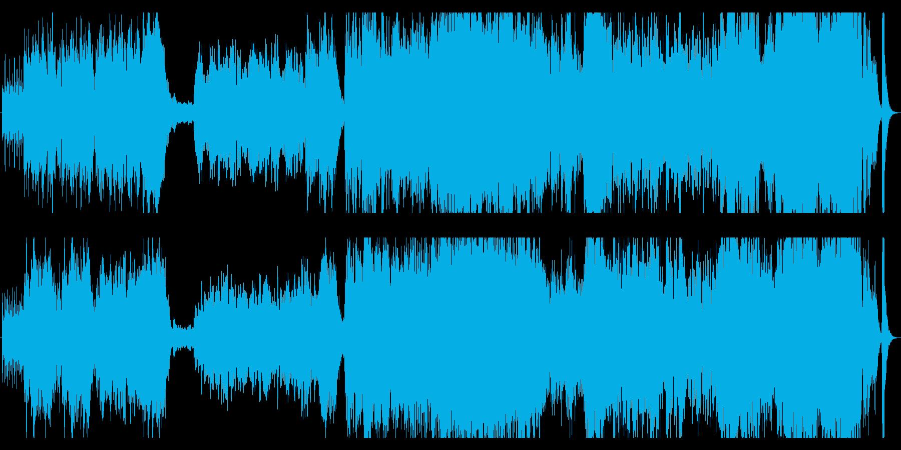 爽やかで疾走感のあるオーケストラサウンドの再生済みの波形