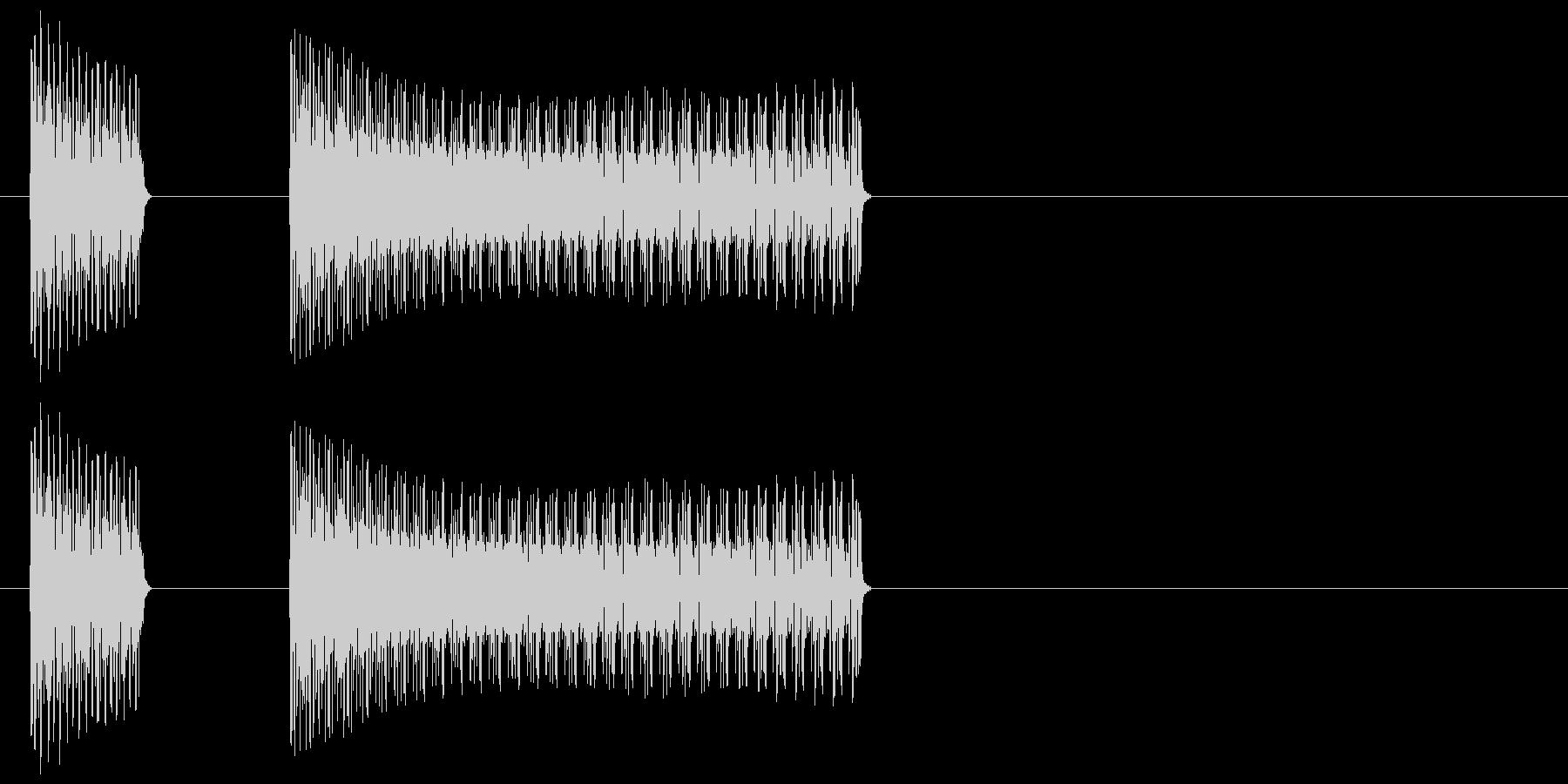 ブッブー/不正解/間違い/バツの未再生の波形