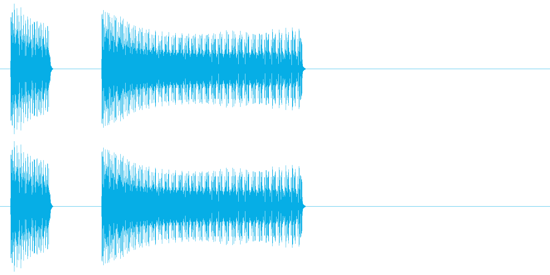 ブッブー/不正解/間違い/バツの再生済みの波形