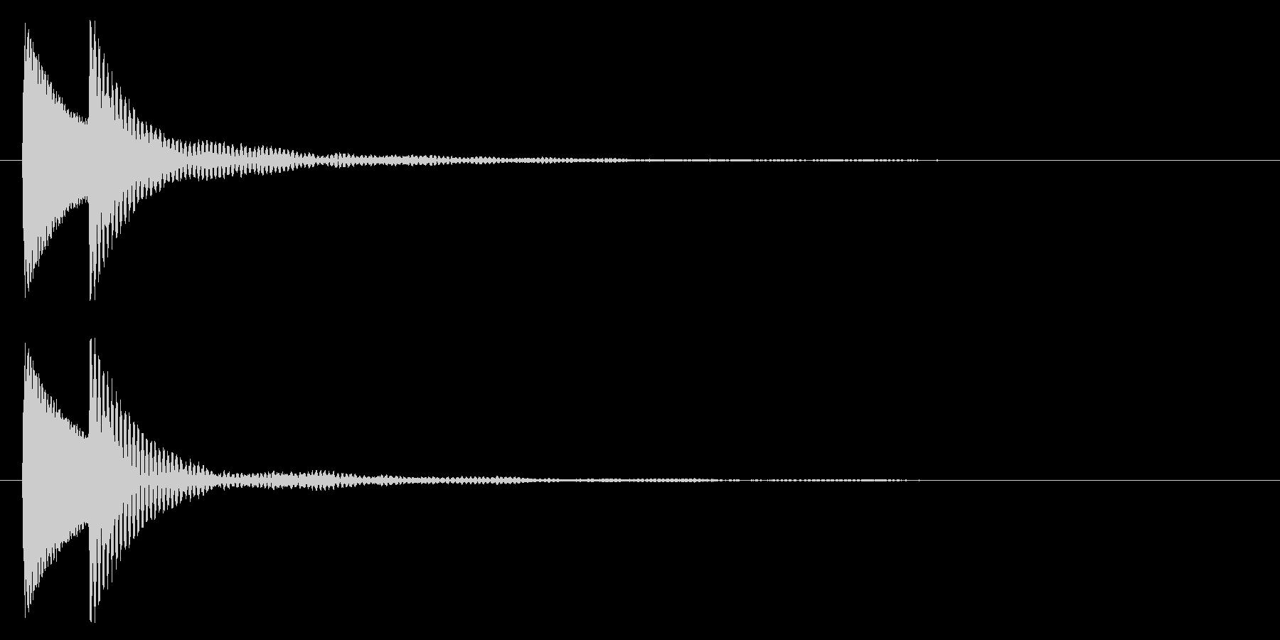 汎用性のあるアプリタッチ&決定音ですの未再生の波形