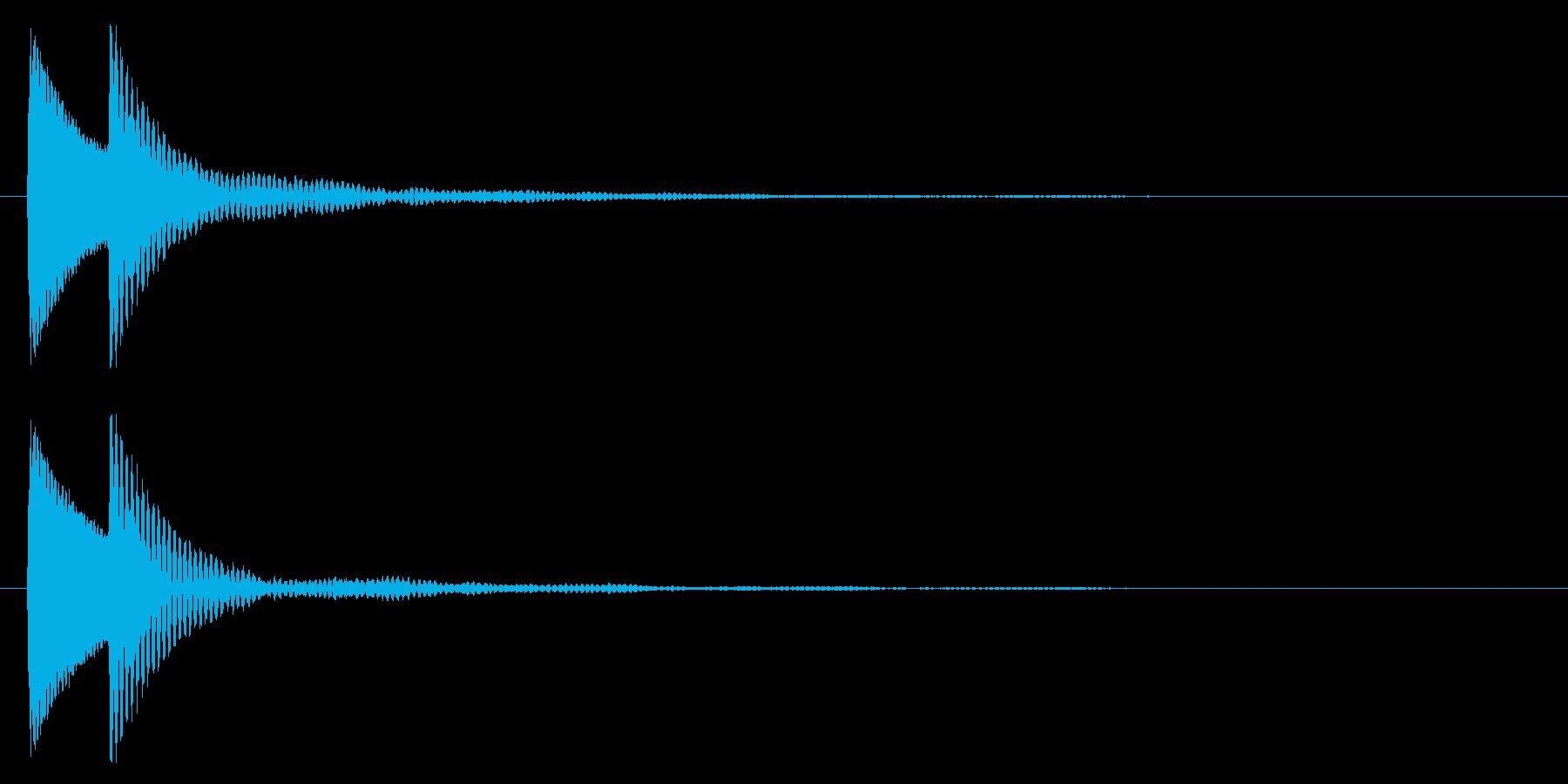 汎用性のあるアプリタッチ&決定音ですの再生済みの波形