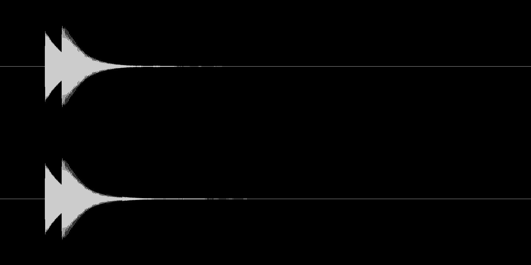 ピンポン(正解)06の未再生の波形