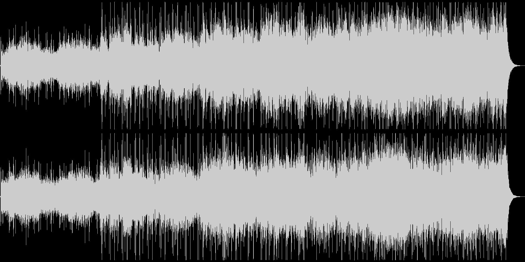 透明感のある壮大なメロディの未再生の波形