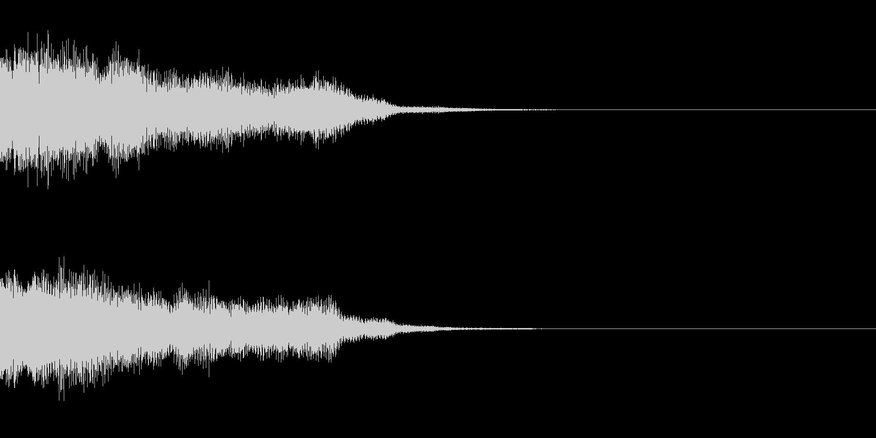 サウンドロゴ25_シンセの未再生の波形