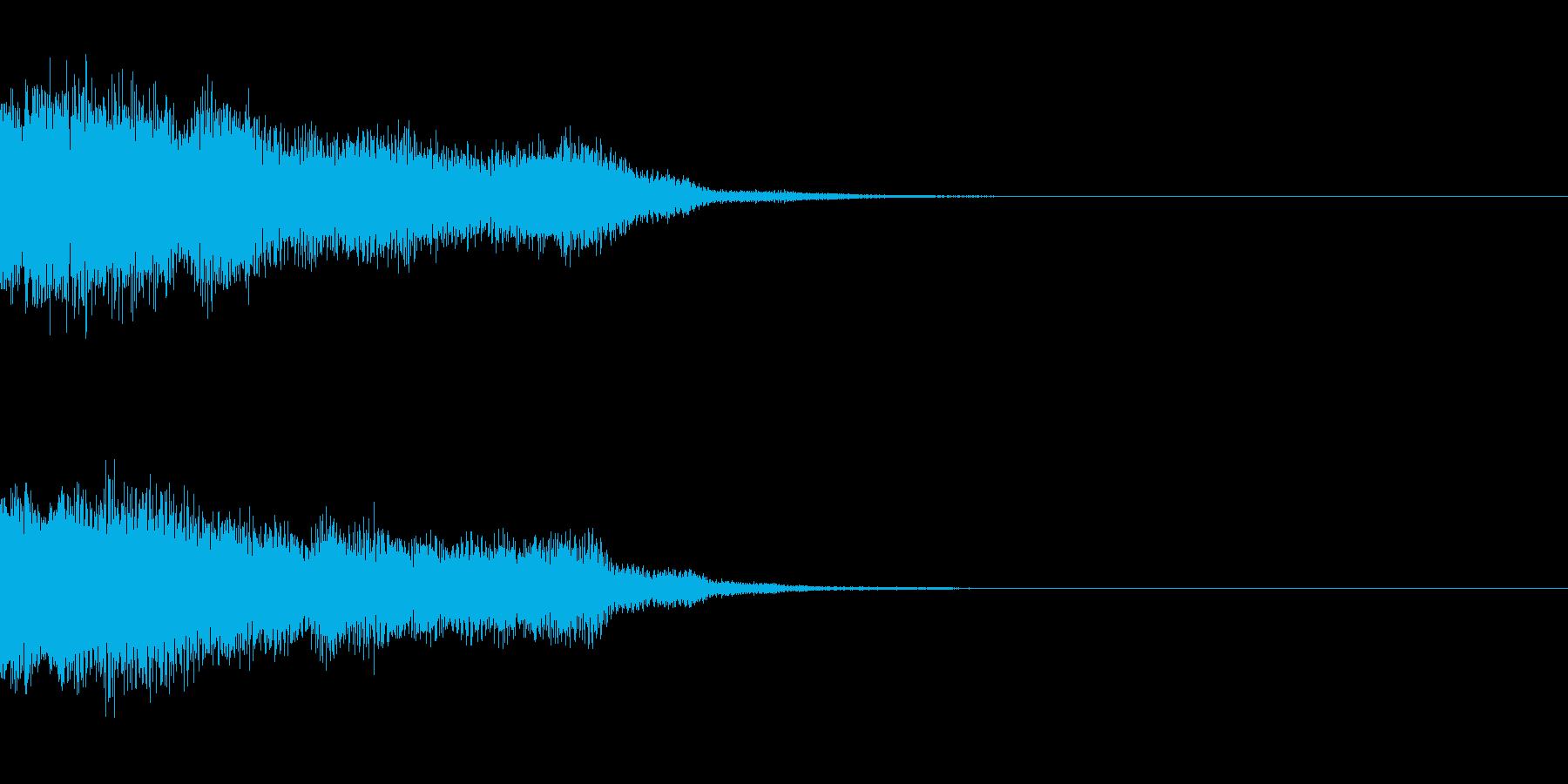 サウンドロゴ25_シンセの再生済みの波形