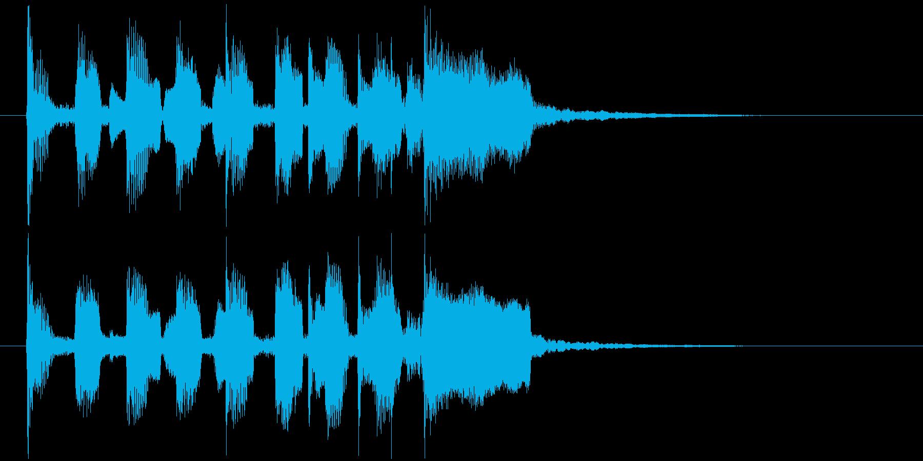 ジングル(素朴)の再生済みの波形