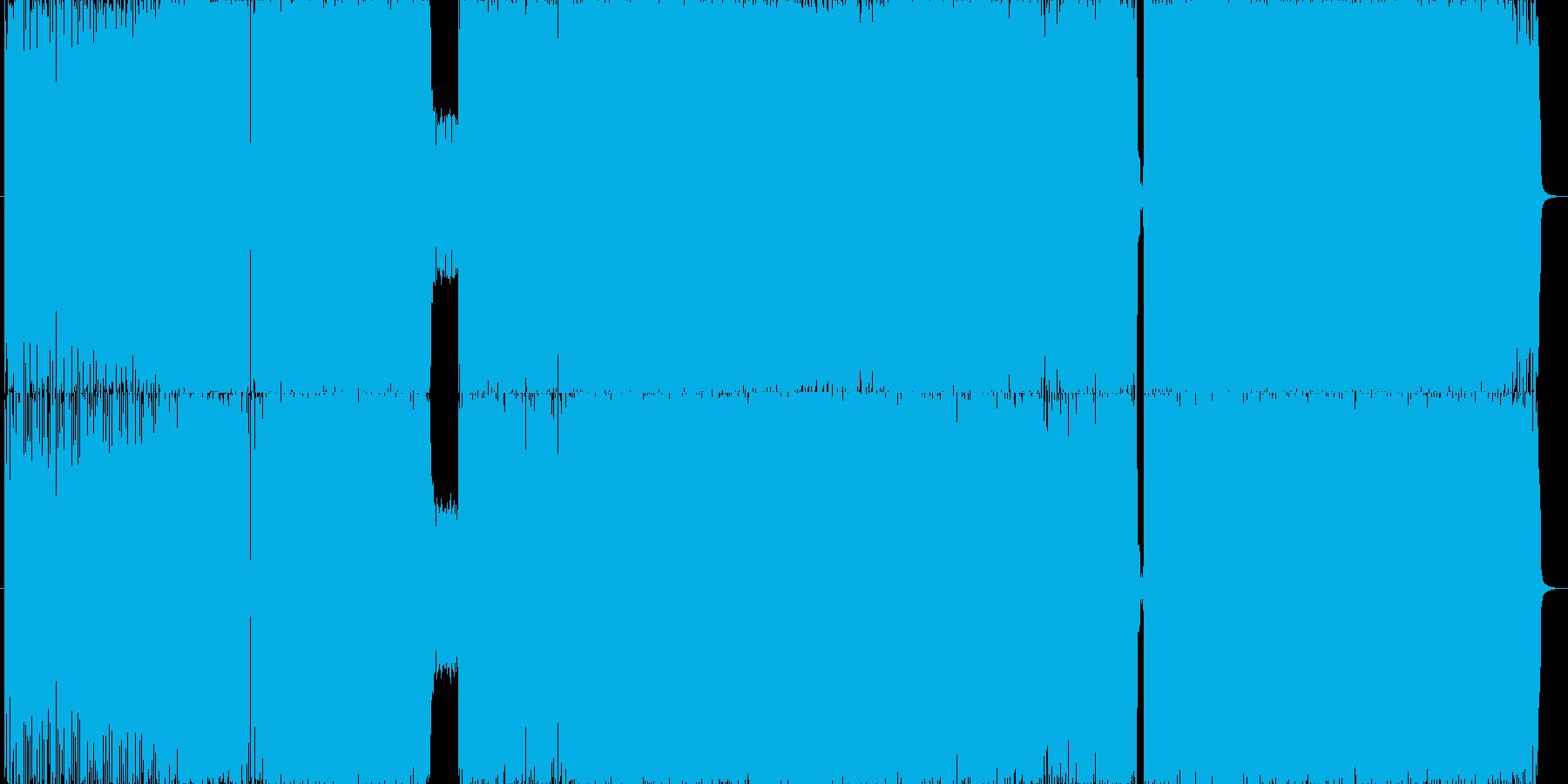 疾走感あるハードロック調の再生済みの波形
