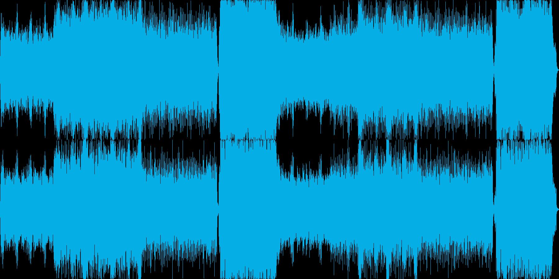 斬新な戦闘曲に近い緊迫した曲です。の再生済みの波形