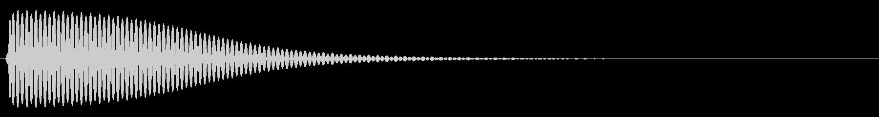 Com ファミコンなどのコマンド音 8の未再生の波形