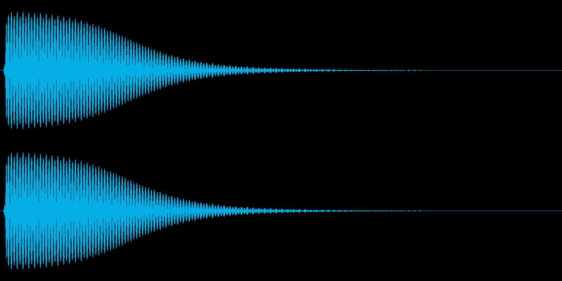 Com ファミコンなどのコマンド音 8の再生済みの波形