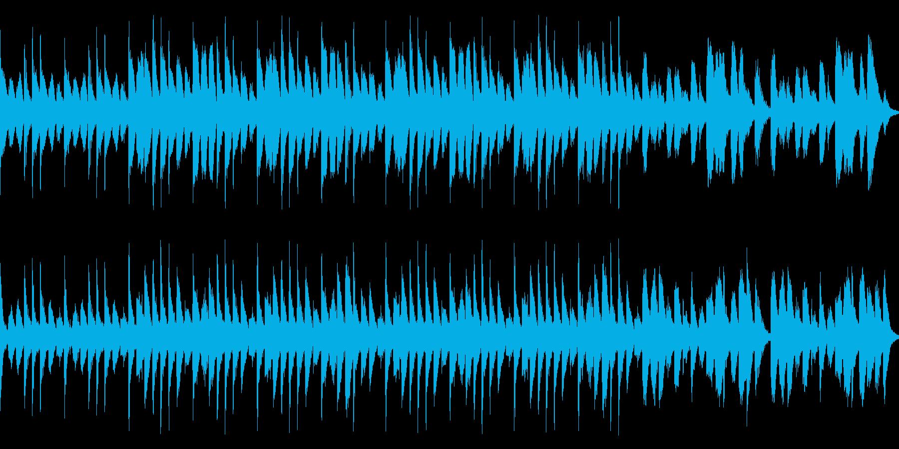 明るくわくわくするようなループBGMの再生済みの波形