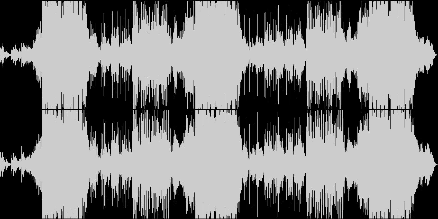 EDM静・動が交錯する切ないメロの和風曲の未再生の波形