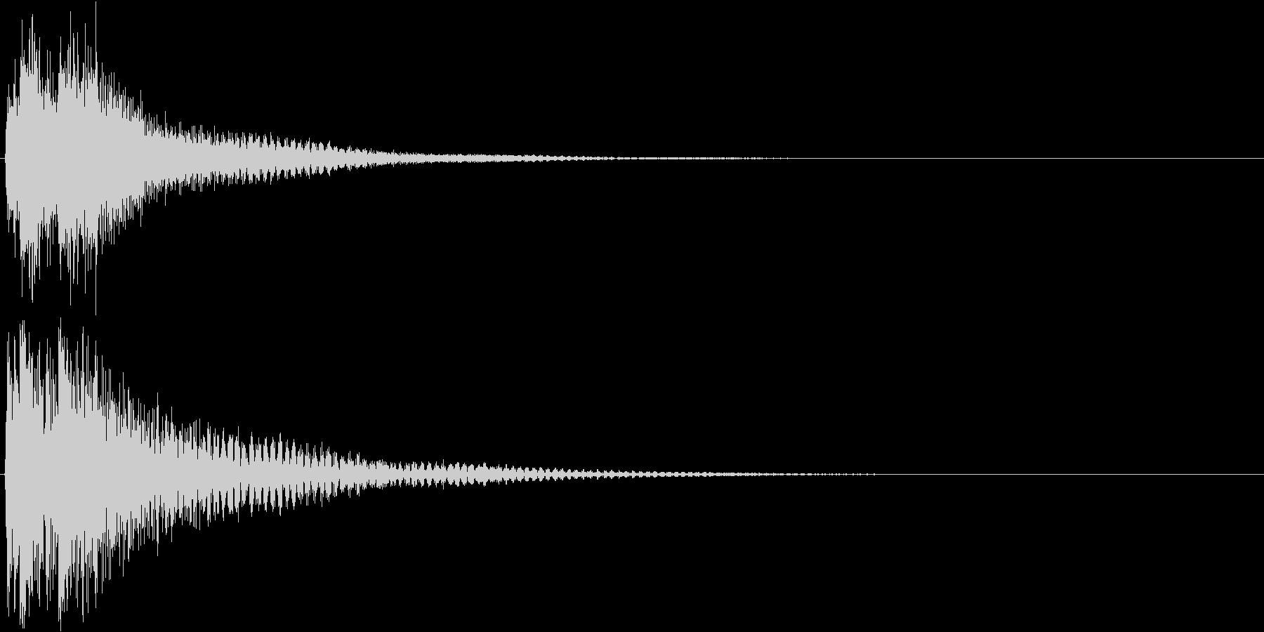 ジャジャン。クイズ出題・発表(低)の未再生の波形