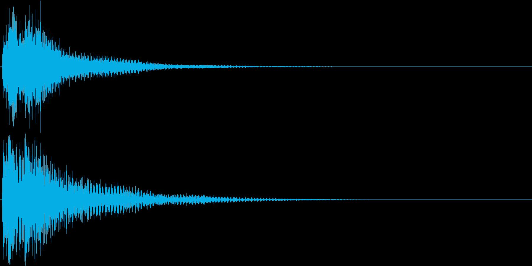 ジャジャン。クイズ出題・発表(低)の再生済みの波形