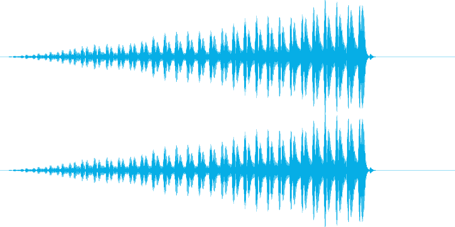 クワッ コミカルの再生済みの波形