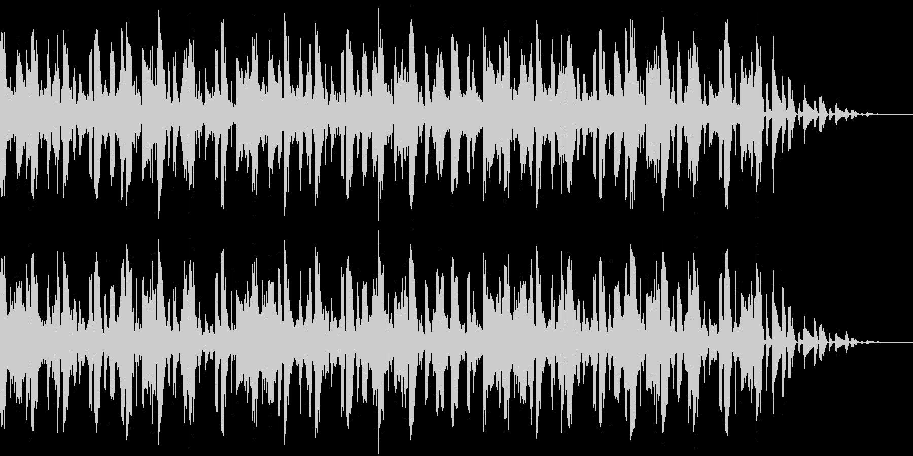 おしゃれなハウスBGMの未再生の波形