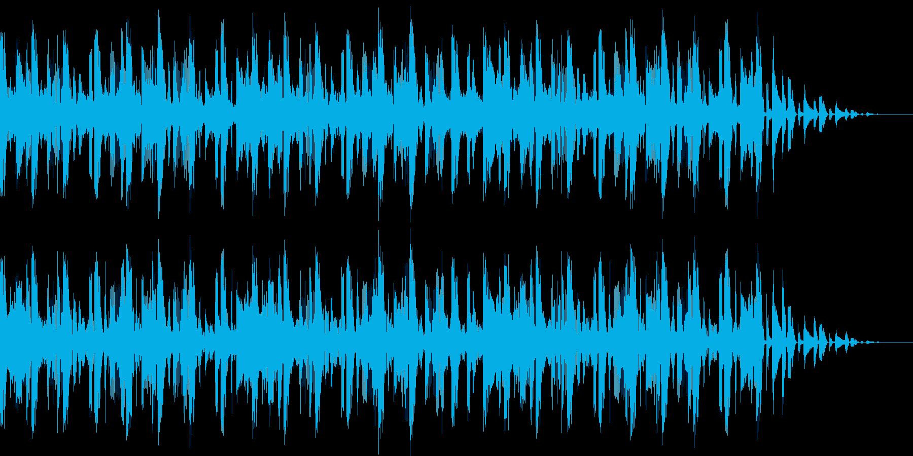 おしゃれなハウスBGMの再生済みの波形